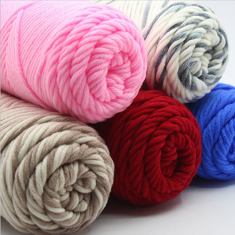 Thick Wool Yarn Lovely wholesale 500g Lot Natural soft Silk Milk Cotton Yarn Of Wonderful 49 Pictures Thick Wool Yarn