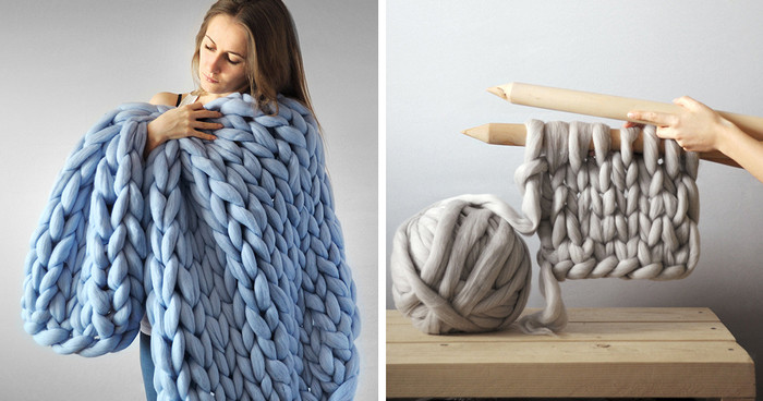 Thick Yarn Blanket Awesome Extremely Chunky Knits by Anna Mo Look Like they're Knit Of Perfect 41 Images Thick Yarn Blanket