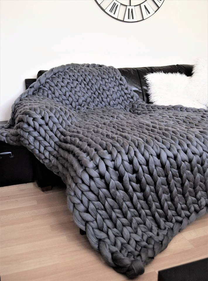 Thick Yarn Blanket Best Of Chunky Knitted Blanket Throw Blanket Natural Merino Wool Of Perfect 41 Images Thick Yarn Blanket
