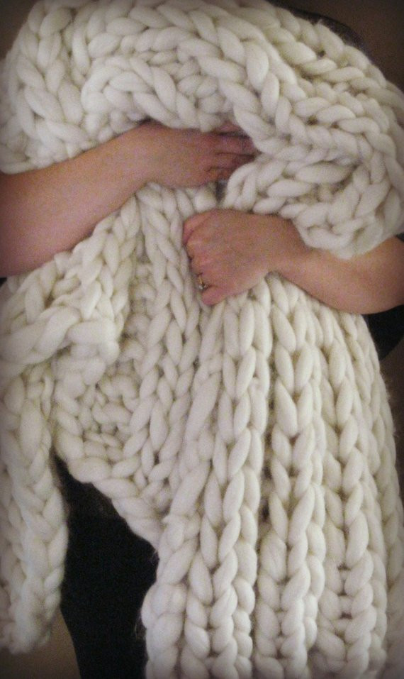Thick Yarn Blanket Lovely Items Similar to Giant Knit Blanket 75×60 Super Of Perfect 41 Images Thick Yarn Blanket