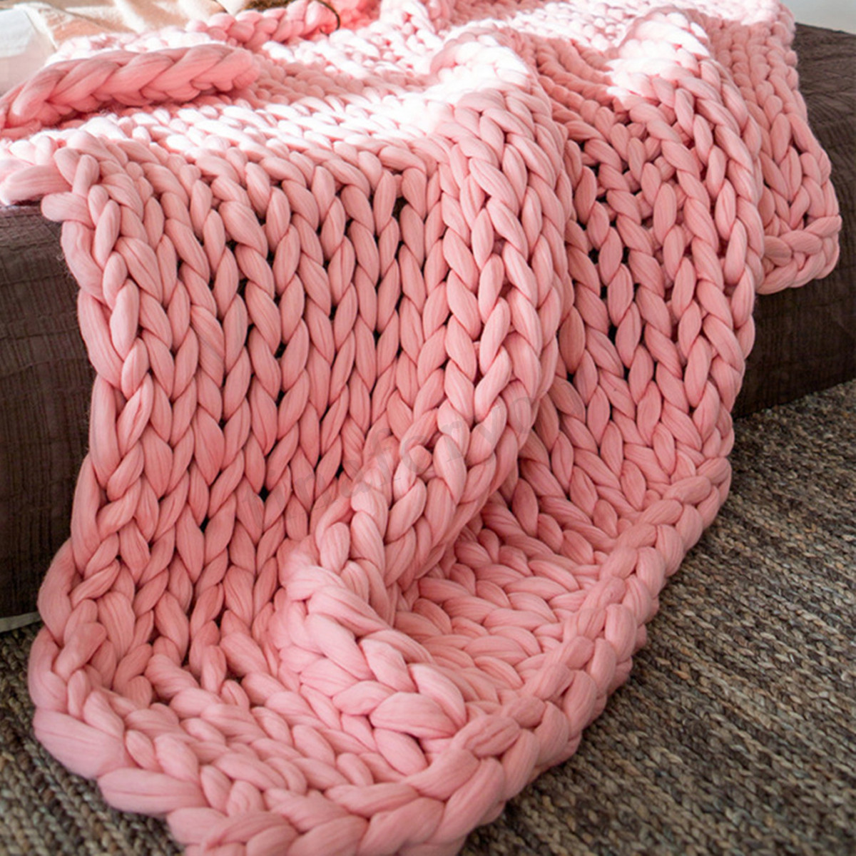 Thick Yarn Blanket Lovely soft Warm Handmade Chunky Knit Blanket Thick Yarn Of Perfect 41 Images Thick Yarn Blanket
