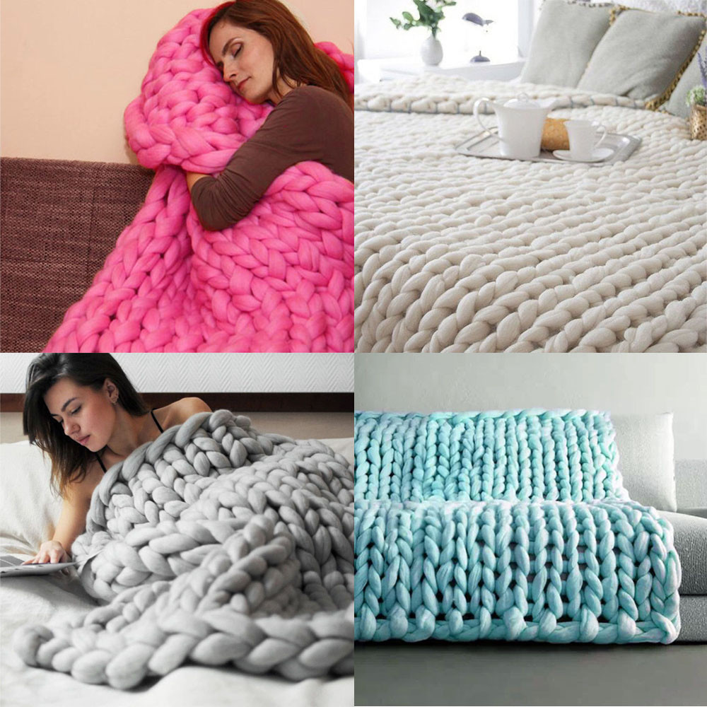 Thick Yarn Blanket New 2017 ishowtienda Hand Chunky Knitted Blanket Thick Yarn Of Perfect 41 Images Thick Yarn Blanket