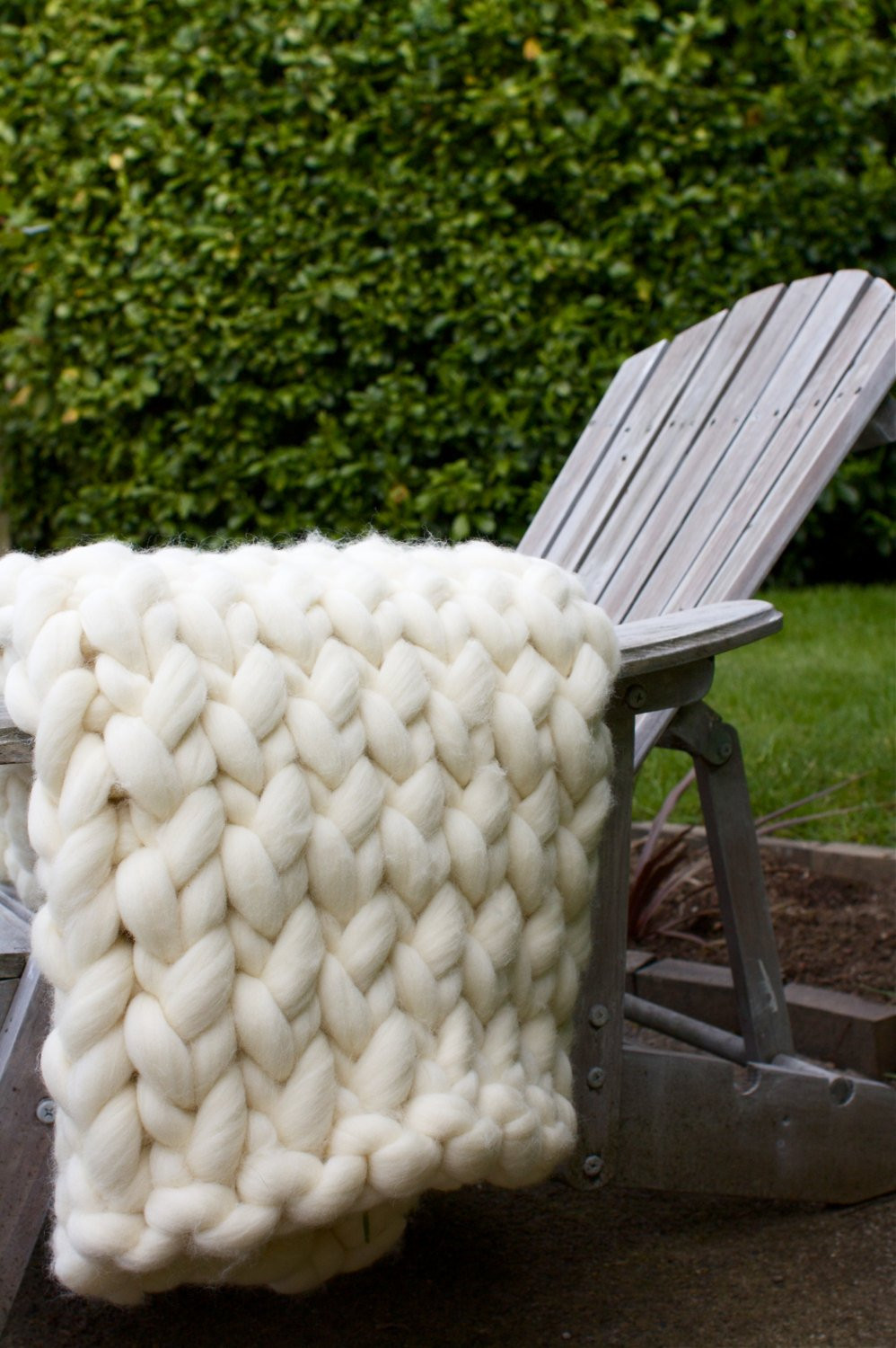 Super Chunky Knit Throw Blanket Wool by aroving on Etsy