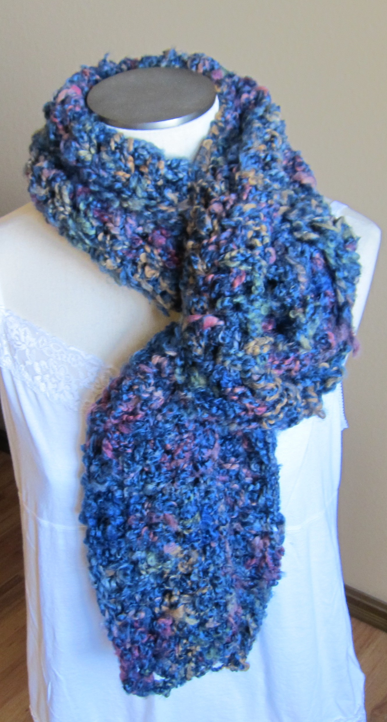 Thick Yarn Crochet Lovely Crochet Scarf In Blue Multi Color Thick Yarn Of Superb 49 Models Thick Yarn Crochet