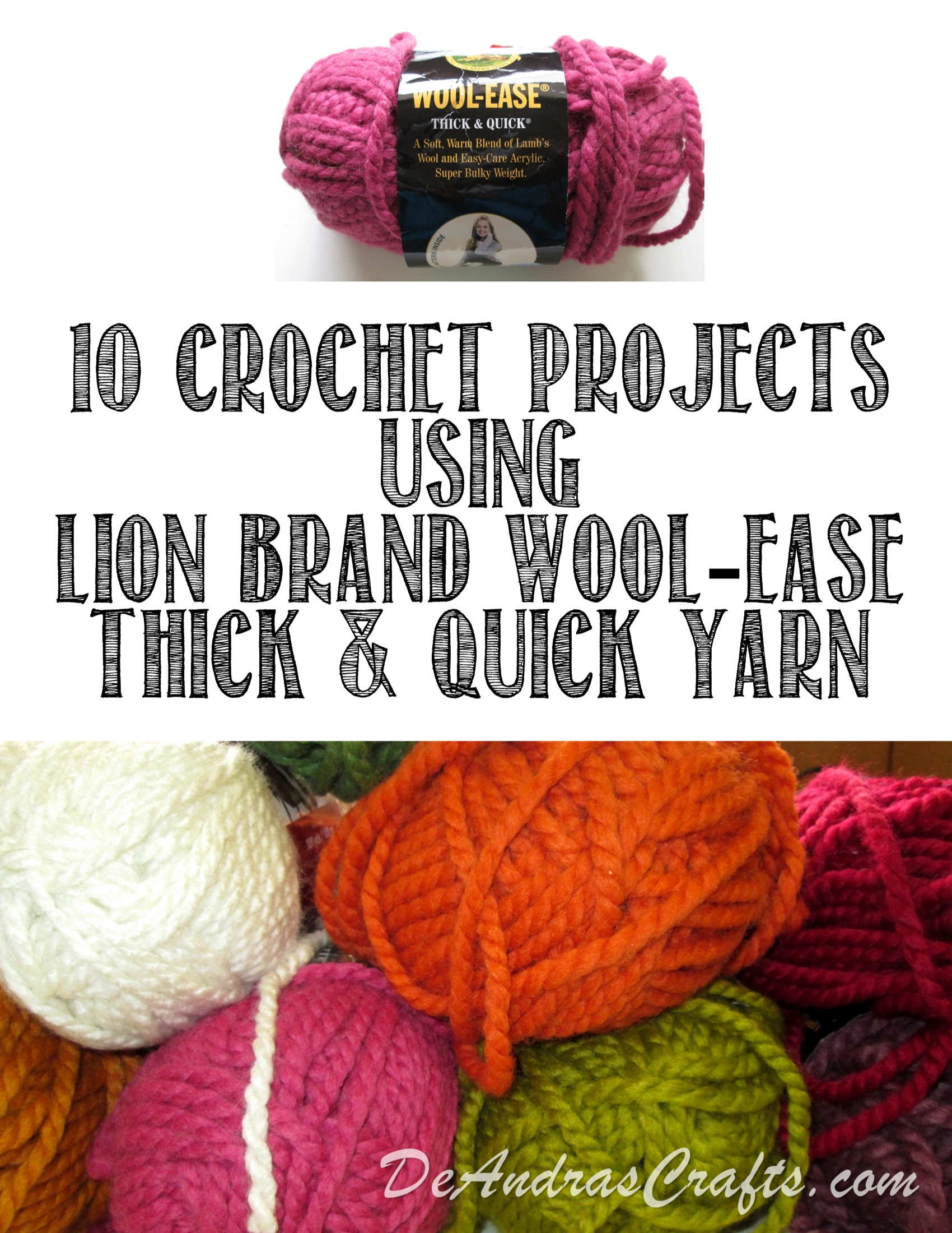 Thick Yarn Crochet Lovely Ten Crocheted Projects for Lion Brand Wool Ease Thick Of Superb 49 Models Thick Yarn Crochet