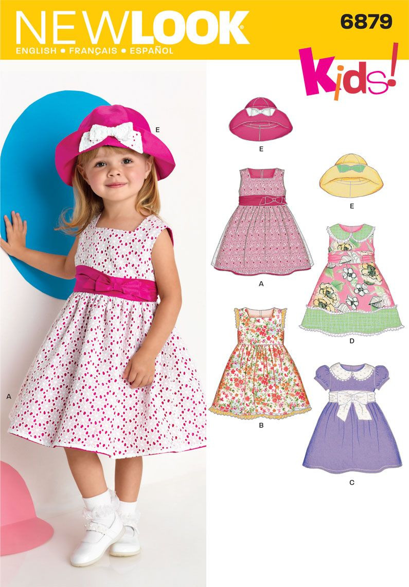 Toddler Dress Patterns Awesome toddler Dresses and Hat Sewing Pattern 6879 New Look Of Contemporary 40 Pictures toddler Dress Patterns