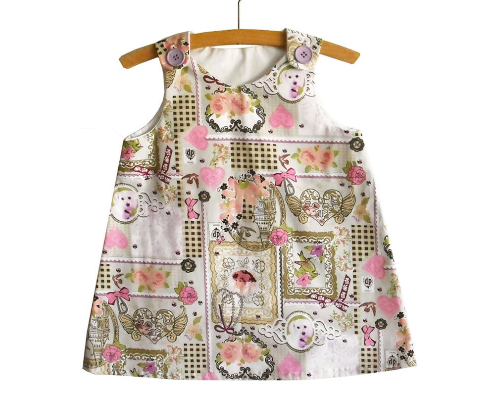 A Line Dress Pattern with Tutorial Toddler dress