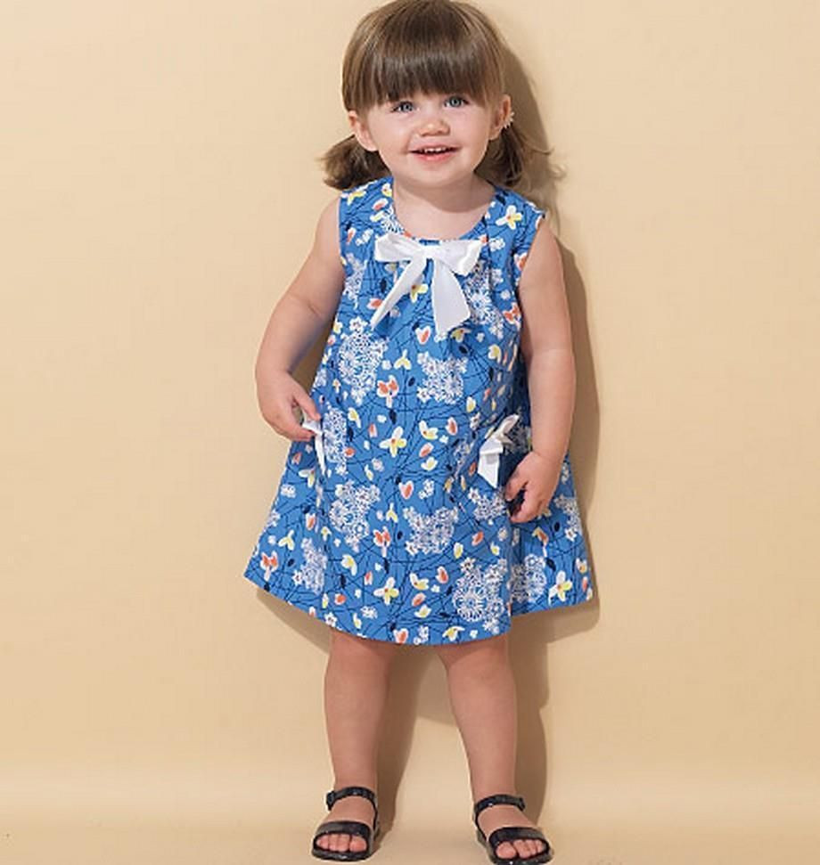 McCALL S SEWING PATTERN TODDLERS DRESSES SIZES 1 2 3 4 M7308