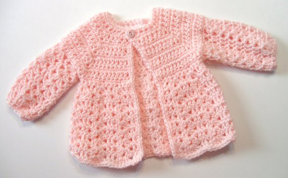 Crochet Pattern Baby Sweater Perfect for Girls Oma s