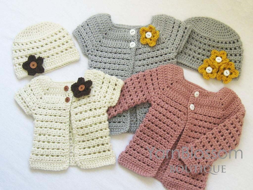 Toddler Sweater Crochet Pattern Unique Crochet Pattern toddler Cardigan &beanie by Yarn Blossom Of Attractive 41 Models toddler Sweater Crochet Pattern