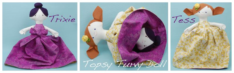 Topsy Turvy Doll Pattern Beautiful Trixie and Tess A topsy Turvy Doll whileshenaps Of Marvelous 49 Pics topsy Turvy Doll Pattern