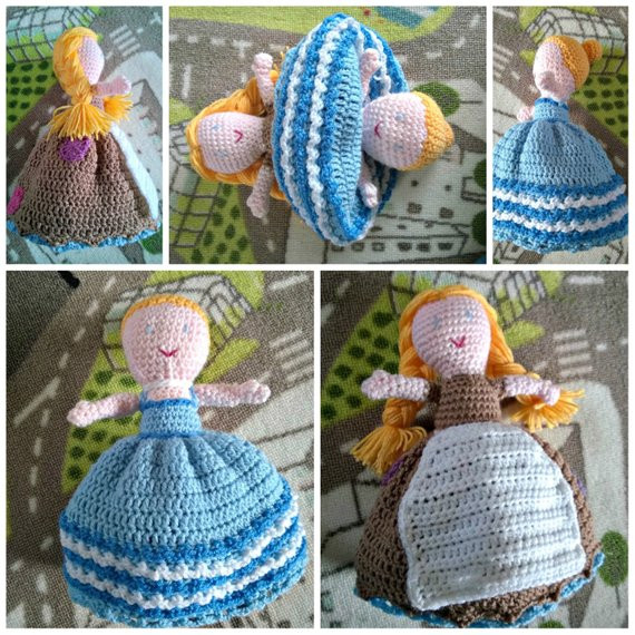 Items similar to Crochet Pattern Cinderella Topsy Turvy