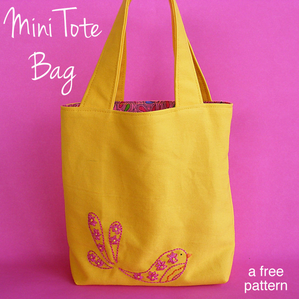 Tote Bag Pattern Lovely Mini tote Free Sewing Pattern Pdf Of Beautiful 46 Ideas tote Bag Pattern