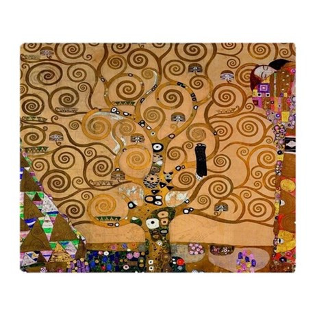 Klimt Tree of Life Throw Blanket by listing store