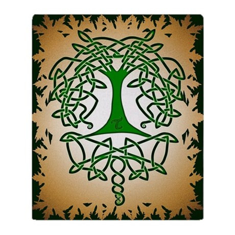 Celtic Tree of Life Throw Blanket by ADMIN CP