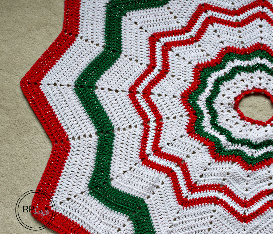Tree Skirt Pattern Inspirational Christmas Tree Skirt Crochet Pattern ⋆ Rescued Paw Designs Of Tree Skirt Pattern Elegant Christmas Goose Tree Skirt & Card Holder