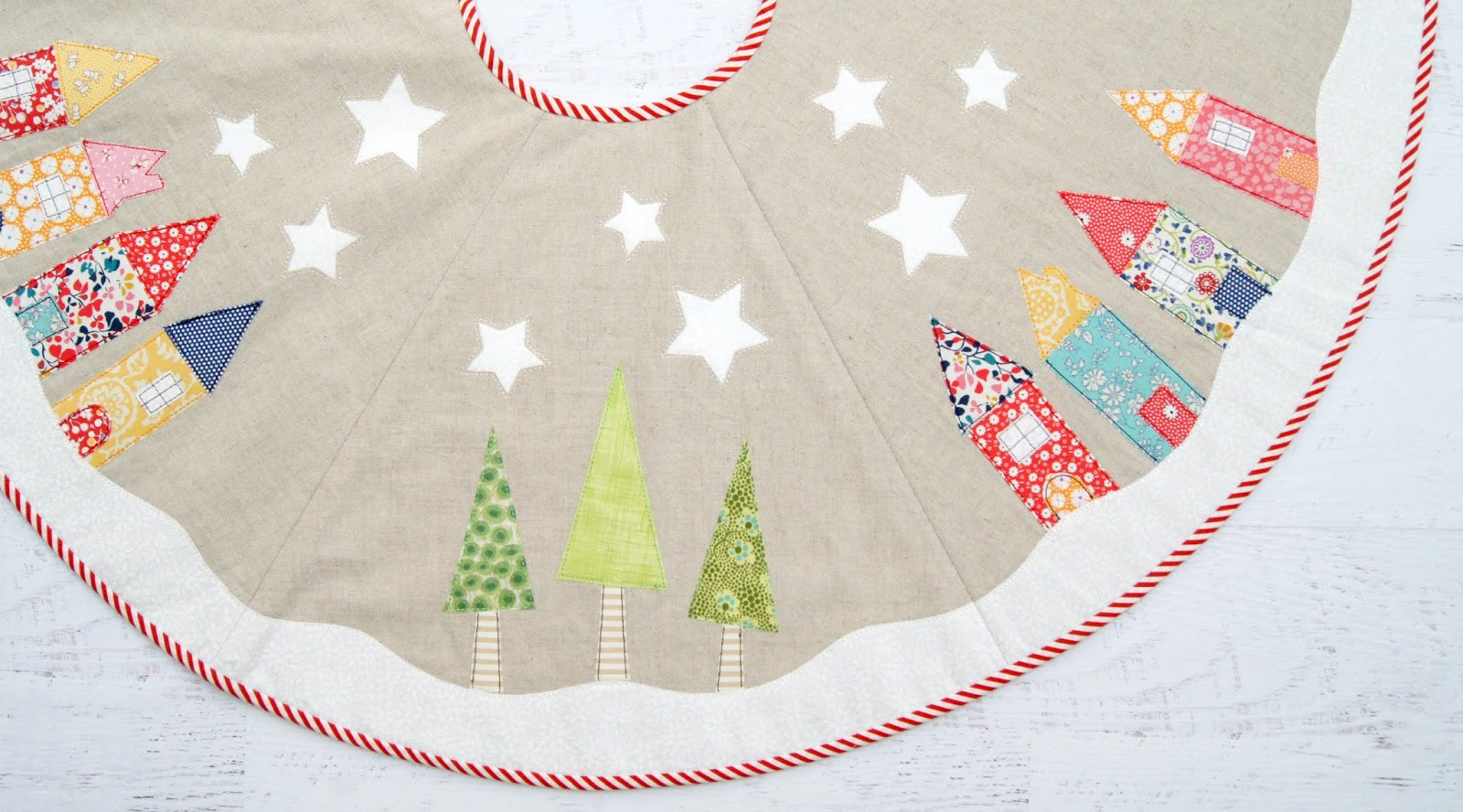 Tree Skirt Pattern Inspirational Tied with A Ribbon Yule Tide Tree Skirt Sew Along Of Tree Skirt Pattern Elegant Christmas Goose Tree Skirt & Card Holder