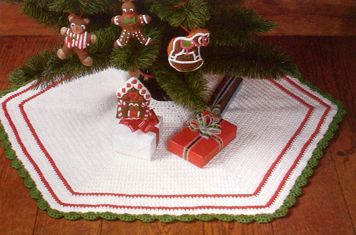 Tree Skirt Pattern Lovely Crochet Christmas Tree Skirt Patterns – Happy Holidays Of Tree Skirt Pattern Elegant Christmas Goose Tree Skirt & Card Holder
