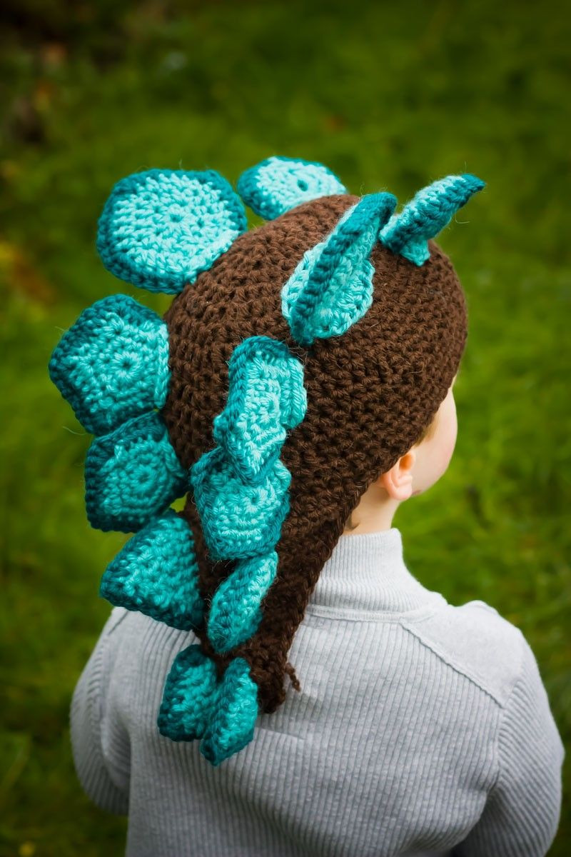 Triceratops Crochet Pattern Free Inspirational Stegosaurus Crochet Hat I Know A Few People who Will Love Of Brilliant 41 Pictures Triceratops Crochet Pattern Free