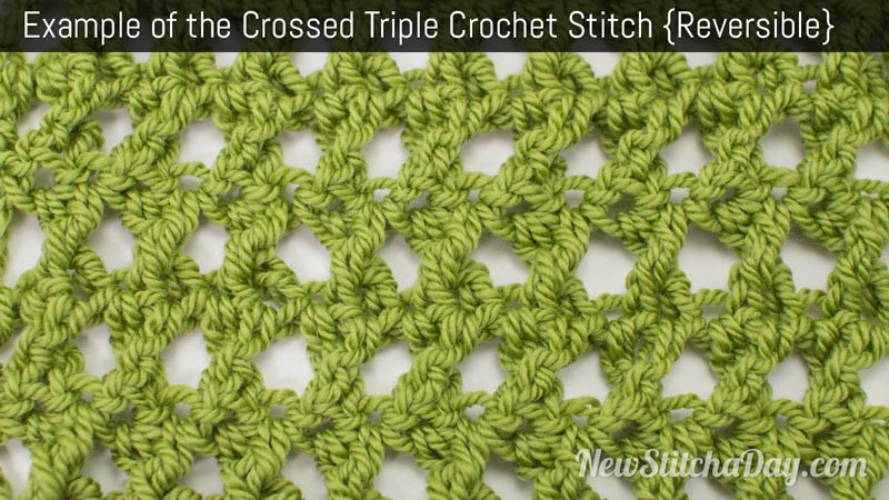 Triple Crochet Stitch Lovely How to Crochet the Crossed Triple Crochet Of Contemporary 47 Ideas Triple Crochet Stitch
