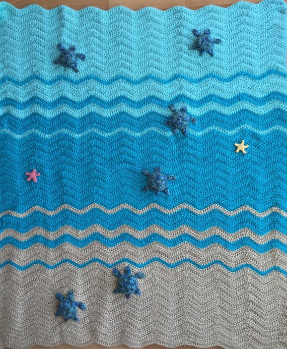 Turtle Baby Blanket Best Of Sea Turtle and Sea Star Blanket Crochet Crib Blanket Baby Of Contemporary 49 Pics Turtle Baby Blanket
