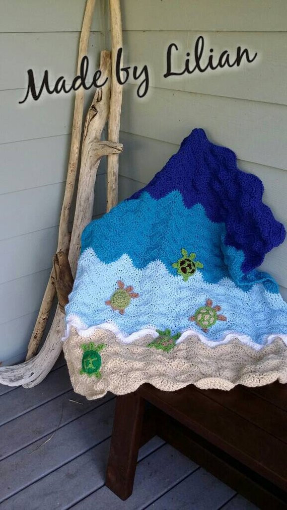 Turtle Baby Blanket Fresh Sea Turtle Chevron Baby Blanket Throw Crochet Knit by Of Contemporary 49 Pics Turtle Baby Blanket