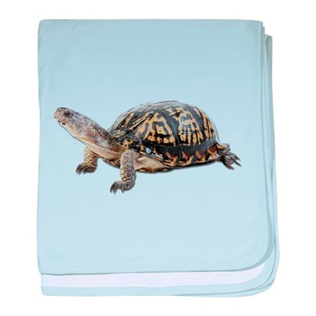 Ornate Box Turtle baby blanket by cafepets