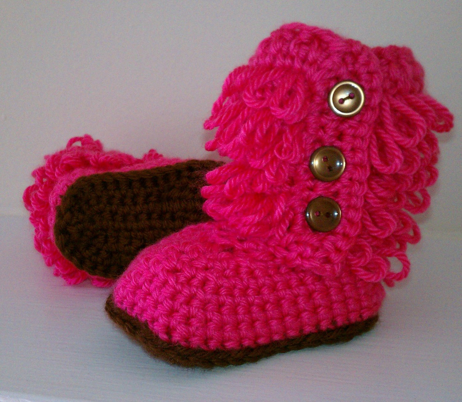 Ugh Crochet Boots Best Of Crochet Baby Boots Ugg Inspired Boots Hot Pink Fall by Kilegna Of Charming 49 Models Ugh Crochet Boots