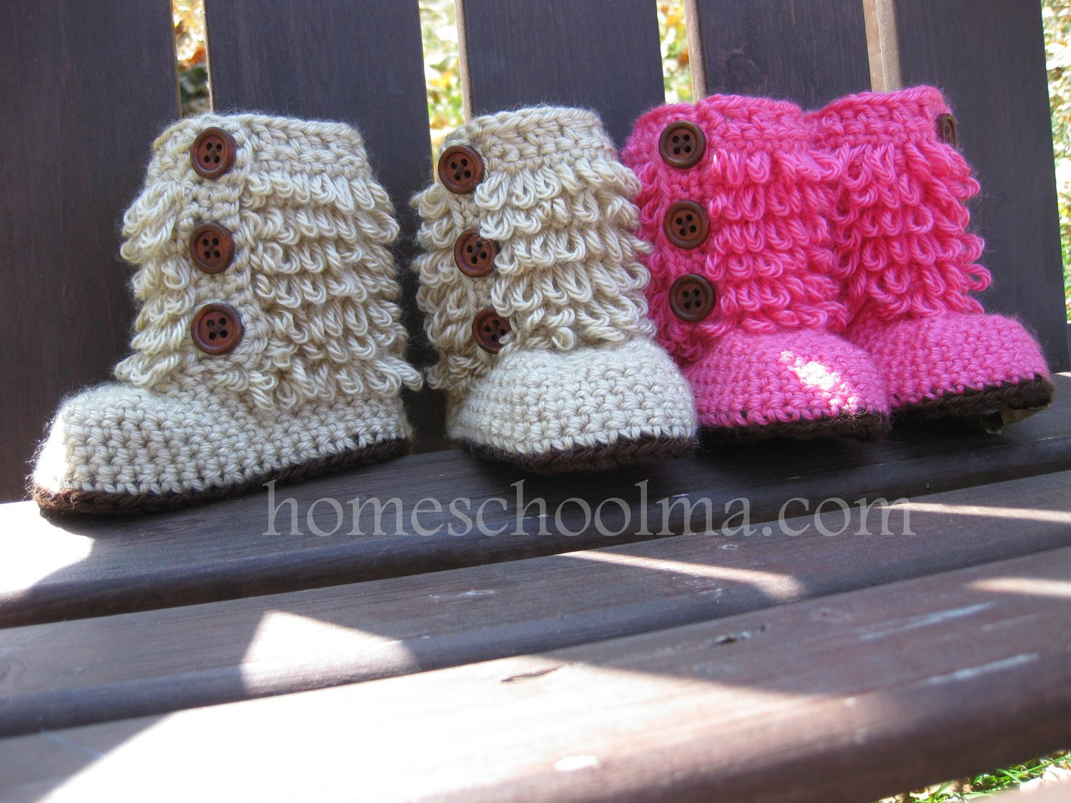 Ugh Crochet Boots Unique Crochet Baby Ugg Inspired Boots Hot Pink Oatmeal Of Charming 49 Models Ugh Crochet Boots