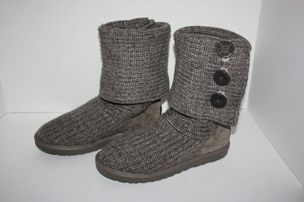 Ugh Crochet Boots Unique Womens Ugg Australia Gray Crochet Boots Size 10 Of Charming 49 Models Ugh Crochet Boots