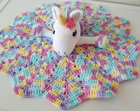 Unicorn Blanket Pattern Beautiful Lavender Unicorn Snuggle Blanket Pdf Crochet Pattern Of Lovely 48 Photos Unicorn Blanket Pattern