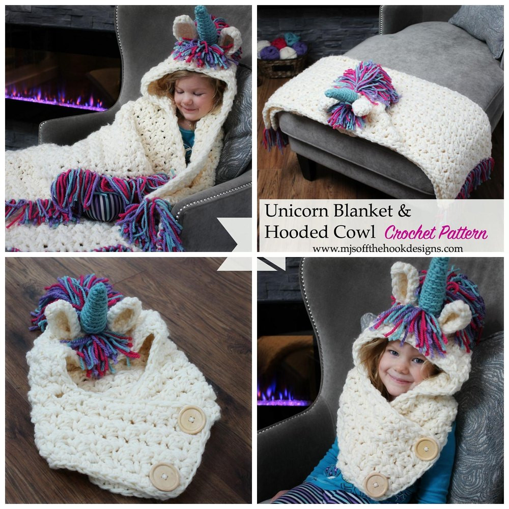 Unicorn Blanket Pattern Fresh Bulky & Quick Unicorn Blanket Cowl Crochet Pattern by Of Lovely 48 Photos Unicorn Blanket Pattern