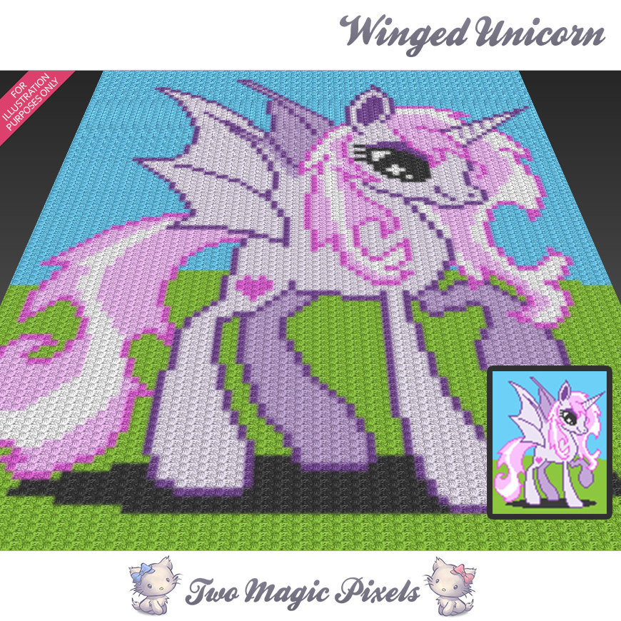 Unicorn Blanket Pattern Lovely Winged Unicorn C2c Graph Crochet Pattern Of Lovely 48 Photos Unicorn Blanket Pattern