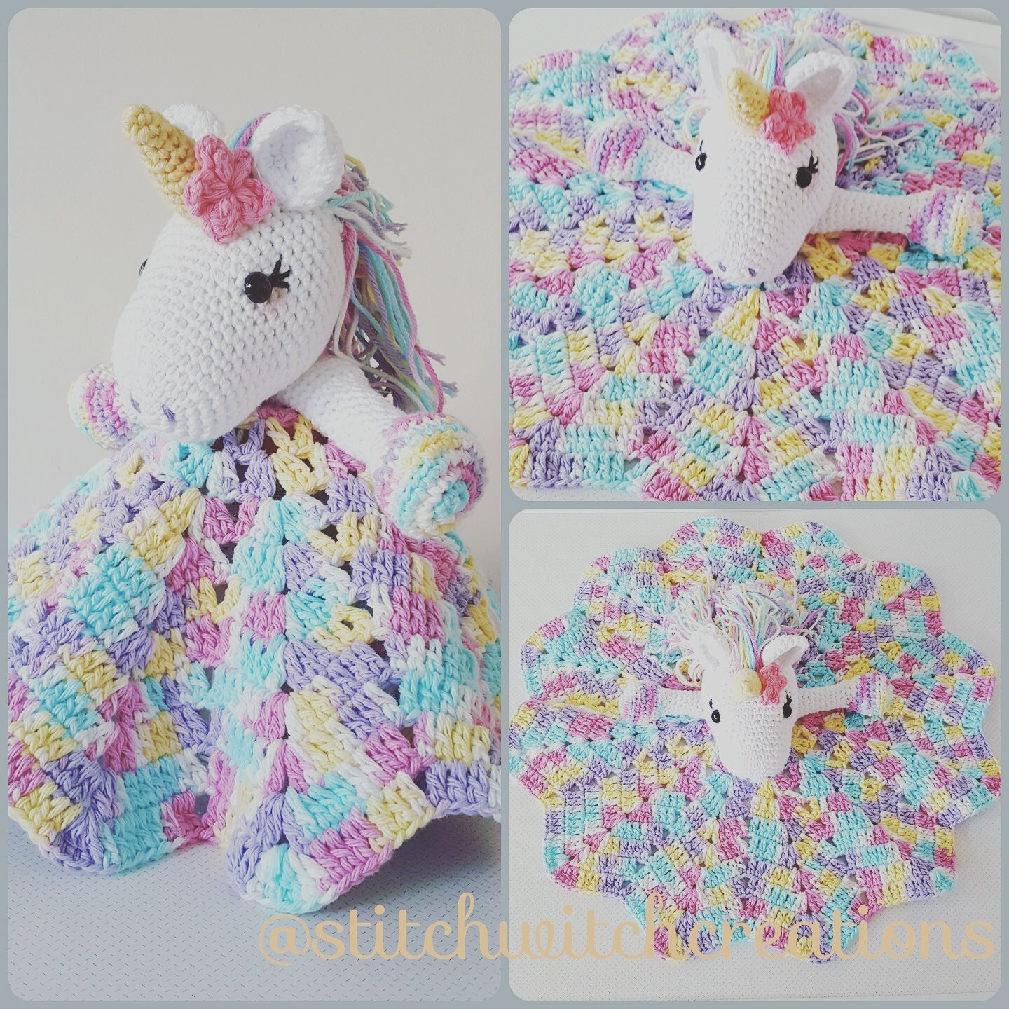 Unicorn Blanket Pattern New Lavender Unicorn Snuggle Blanket Pdf Crochet Pattern Of Lovely 48 Photos Unicorn Blanket Pattern