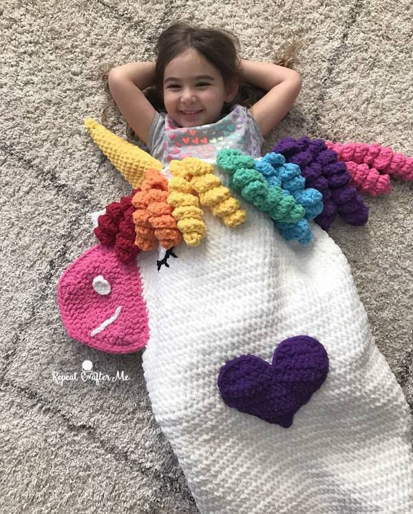 Unicorn Blanket Pattern Unique Unicorn Snuggle Sack Crochet Pattern – Crochet Of Lovely 48 Photos Unicorn Blanket Pattern