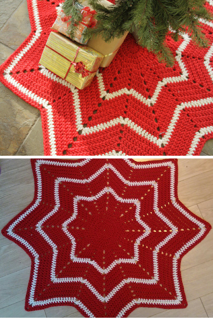 Unique 10 Crochet Christmas Tree Skirt Free Patterns Knit and Knit Tree Skirt Pattern Of Delightful 49 Images Knit Tree Skirt Pattern