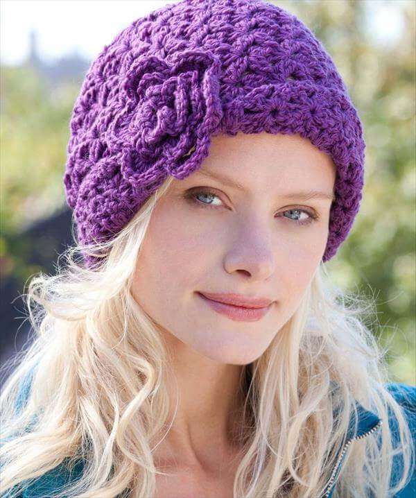 Unique 10 Easy Crochet Hat Patterns for Beginners Crochet Flower for Hat Of Beautiful 45 Photos Crochet Flower for Hat
