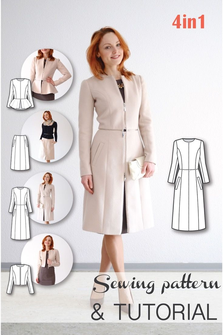 Unique 1000 Ideas About Coat Patterns On Pinterest Jacket Sewing Patterns Of Adorable 41 Models Jacket Sewing Patterns