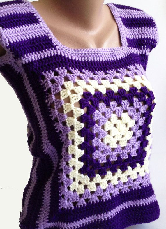 1000 ideas about Granny Square Sweater on Pinterest