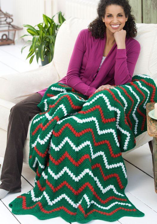 1000 images about CROCHETED CHRISTMAS AFGHANS on