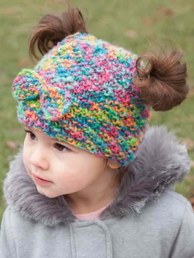 Unique 1000 Images About Knit Baby Hat Patterns On Pinterest Bun Hat Knitting Pattern Of Amazing 40 Ideas Bun Hat Knitting Pattern