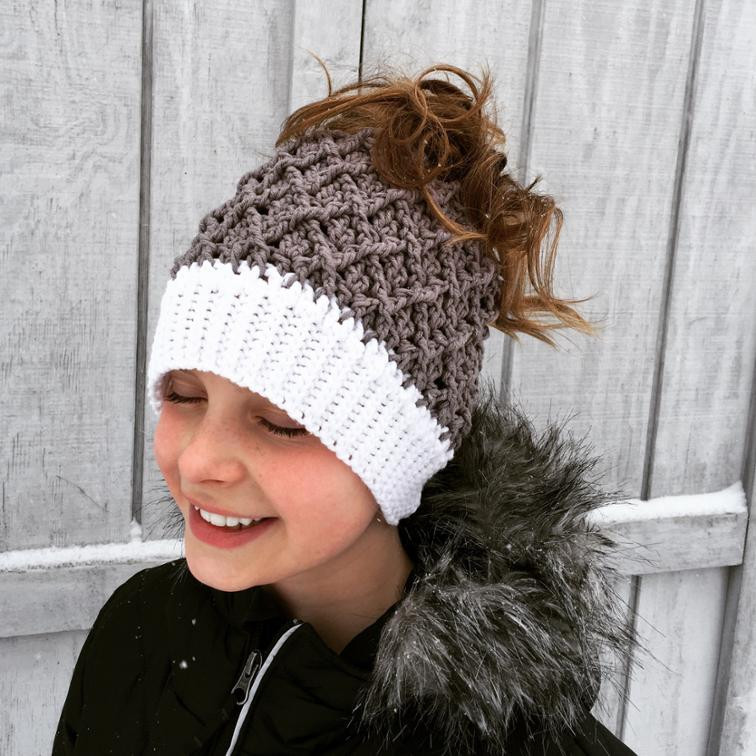Unique 12 Crochet Messy Bun Hat Patterns Ponytail Hats Free Patterns Of Incredible 42 Ideas Ponytail Hats Free Patterns