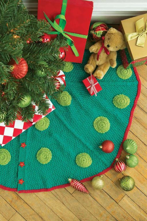 Unique 12 Knitting Patterns for Christmas Knit Tree Skirt Pattern Of Delightful 49 Images Knit Tree Skirt Pattern