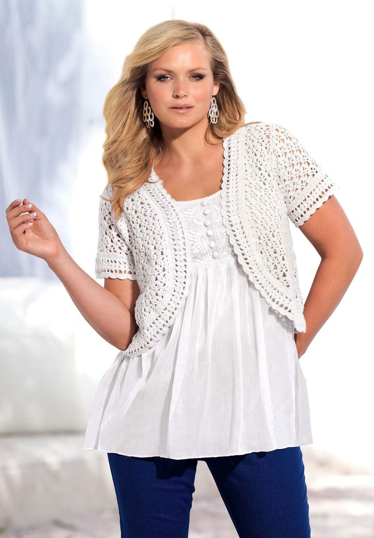 Unique 141 Best Outstanding Crocheted tops Images On Pinterest Plus Size Crochet Cardigan Of Delightful 41 Models Plus Size Crochet Cardigan