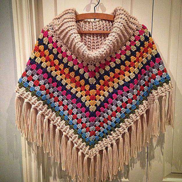 16 Easy Crochet Poncho Patterns for Women I Sewing