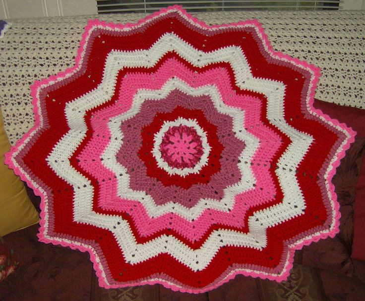 Unique 17 Best Images About Crochet Afghans Blankets On Crochet Round Baby Blanket Of Lovely New Hand Crochet Round Lacy Pink & White Baby Afghan Crochet Round Baby Blanket