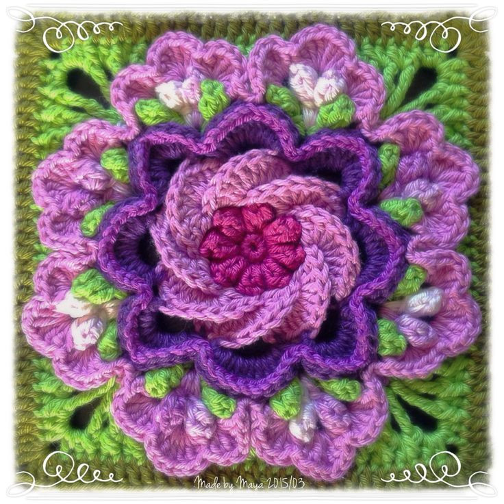 Unique 17 Best Images About Crochet Blocks Squares & Flowers On Crochet Flower Square Of Brilliant 47 Models Crochet Flower Square