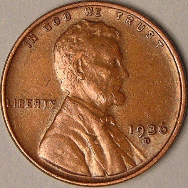 Unique 1936 D Lincoln Wheat Penny Cent Aa 436 Lincoln Cent Values Of Amazing 50 Images Lincoln Cent Values