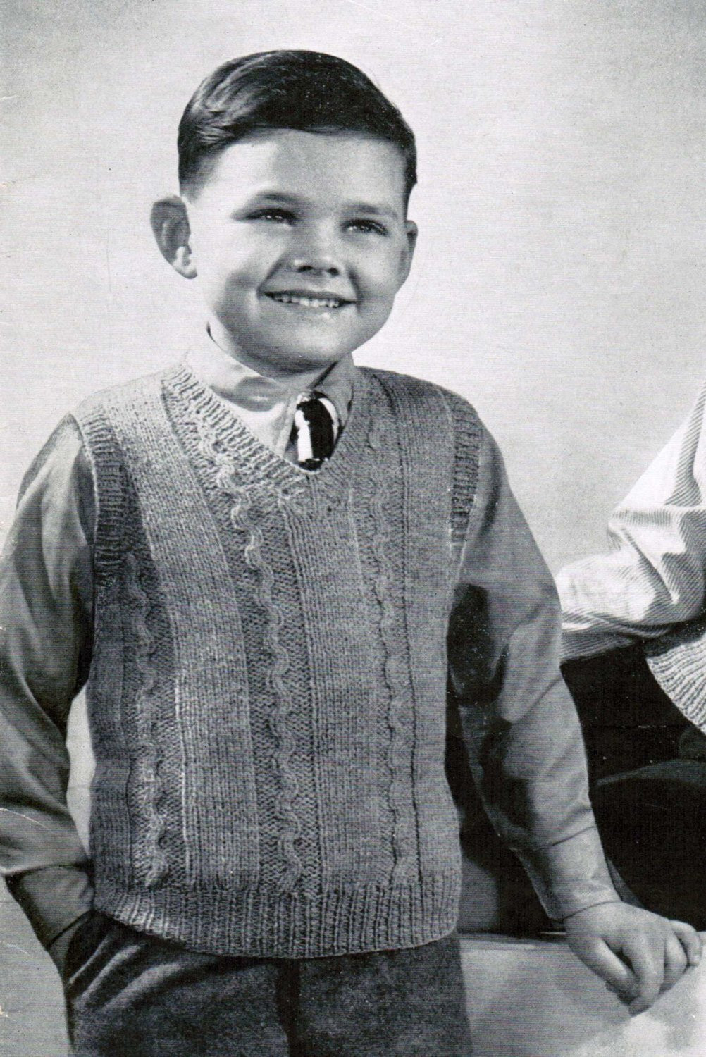 Unique 1940 S Boys Pullover Vest Knitting Pattern Pdf Sizes 6 Knitted Vest Of Great 48 Pics Knitted Vest