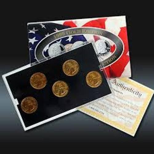Unique 1999 Gold Edition State Quarter Collection State Quarter Set Of Superb 44 Pictures State Quarter Set